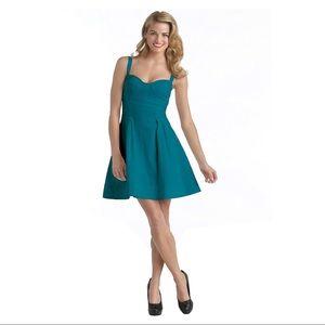 Zac Posen teal flirty dress
